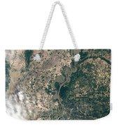 Satellite Image Of Flood Waters Weekender Tote Bag