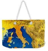 Satellite Image Of Italy Weekender Tote Bag
