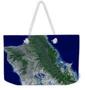 Satellite Image Of Oahu, Hawaii Weekender Tote Bag