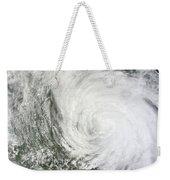 Satellite Image Of Tropical Storm Muifa Weekender Tote Bag