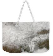 Satellite View Of A Severe Winter Storm Weekender Tote Bag