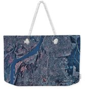 Satellite View Of Little Rock, Arkansas Weekender Tote Bag