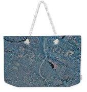 Satellite View Of Newark, New Jersey Weekender Tote Bag
