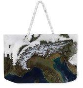 Satellite View Of The Alps Weekender Tote Bag