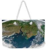 Satellite View Of The Ob And Yenisei Weekender Tote Bag