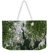 Satellite View Of The Pawtucket Weekender Tote Bag