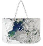 Satellite View Of The Ross Sea Weekender Tote Bag by Stocktrek Images