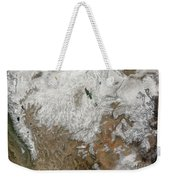 Satellite View Of The Western United Weekender Tote Bag