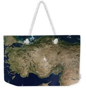 Satellite View Of Turkey And The Island Weekender Tote Bag