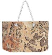 Satellite View Of Wadi Rum Weekender Tote Bag