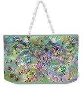 Satin Flowers Weekender Tote Bag
