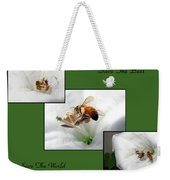 Save The Bees Save The World Weekender Tote Bag