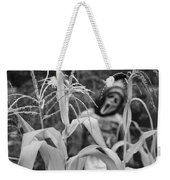 Scarecrow In The Corn Black And White Weekender Tote Bag