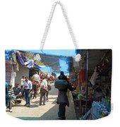 Scene At The Climbing Path Leading To The Vaishno Devi Shrine In Jammu And Kashmir State In India Weekender Tote Bag