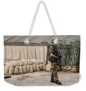 Scenery Of A Checkpoint Used Weekender Tote Bag by Luc De Jaeger