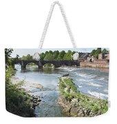 Scenic Landscape With Old Dee Bridge Weekender Tote Bag