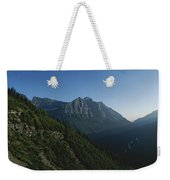 Scenic Overlook In Glacier National Weekender Tote Bag