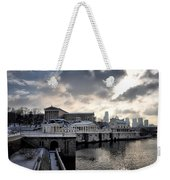 Scenic Philadelphia Winter Weekender Tote Bag