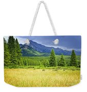 Scenic View In Canadian Rockies Weekender Tote Bag by Elena Elisseeva