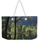 Scenic View Of The Merced River Weekender Tote Bag