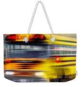 School Bus Rush Weekender Tote Bag