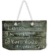 School House Chalkboard Weekender Tote Bag
