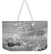 School Of Whales, 1876 Weekender Tote Bag