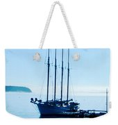 Schooner At Dock Bar Harbor Me Weekender Tote Bag
