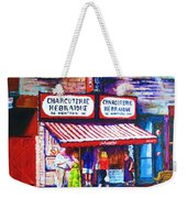 Schwartz's Deli With Lady In Green Dress Weekender Tote Bag
