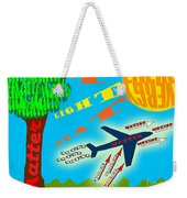 Science Classroom Poster On Physics Weekender Tote Bag