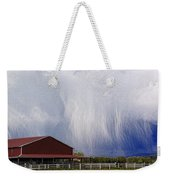 Scifi Storm And Red Barn Weekender Tote Bag