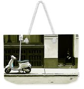 Scooter And Man - Illustration Conversion Weekender Tote Bag