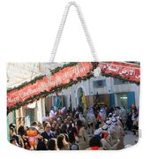 Scouts Marching During Christmas Parade In Bethlehem Weekender Tote Bag