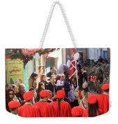 Scouts Parade In Bethlehem At Star Street Weekender Tote Bag