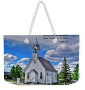Scriptue And Picture Isaiah 56 7 Weekender Tote Bag