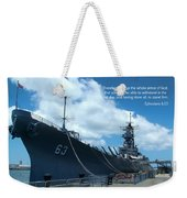Scripture And Picture Ehesians 6 13 Weekender Tote Bag