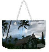Scripture And Picture Ephesians 3 21 Weekender Tote Bag