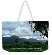 Scripture And Picture Psalm 121 1 Weekender Tote Bag