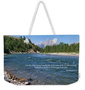 Scripture And Picture Revelation 22 1 Weekender Tote Bag