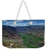 Scriture And Picture Isaiah 41 18 Weekender Tote Bag