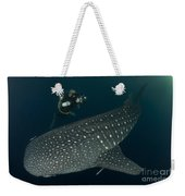Scuba Diver And Whale Shark, Papua Weekender Tote Bag