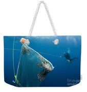 Scuba Diver Nets Invasive Indo-pacific Weekender Tote Bag