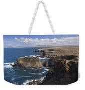 Sea Cliffs And Coastline Near Erris Weekender Tote Bag