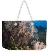 Sea Fan On Soft Coral In Raja Ampat Weekender Tote Bag
