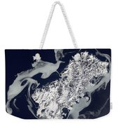 Sea Ice Surrounds The Volcanic Island Weekender Tote Bag by Stocktrek Images