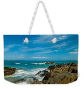 Sea Landscape With Beach Coast Rocks And Blue Sky Weekender Tote Bag