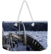 Sea Smoke, Sea Ice, And Icicles Weekender Tote Bag