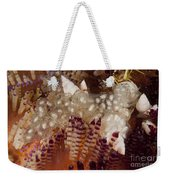 Sea Snails Laying Eggs On Top Of A Fire Weekender Tote Bag