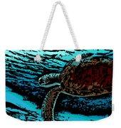 Sea Turtle Swimming Weekender Tote Bag