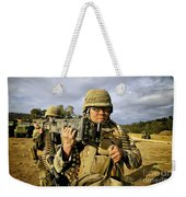 Seabees Carrying A 50-caliber Machine Weekender Tote Bag